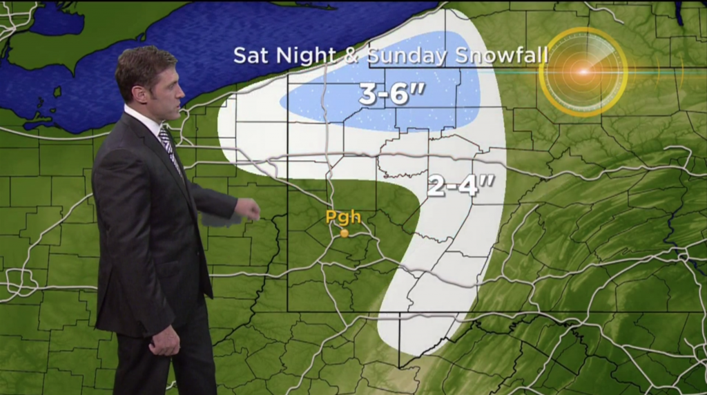 "KDKA: 0"" forecast for Pittsburgh"