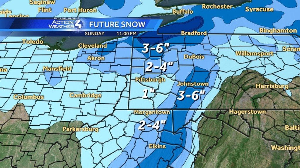 "WTAE: 1"" forecast for Pittsburgh"