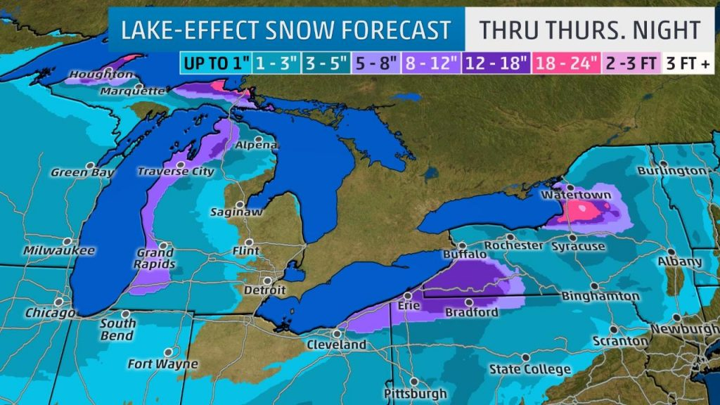 The Weather Channel did not publish a forecast map for today's snow event. However, a snow map through Thursday was posted. Pittsburgh is not expected to receive additional snow this week beyond today, so their prediction for Pittsburgh is 1-3""