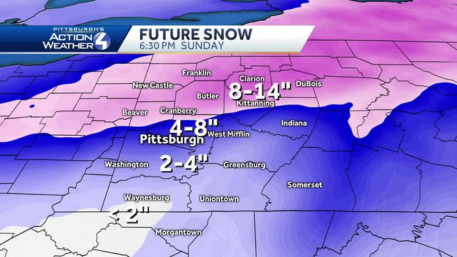 Forecast Roundup for Major Weekend Snowstorm – Pittsburgh